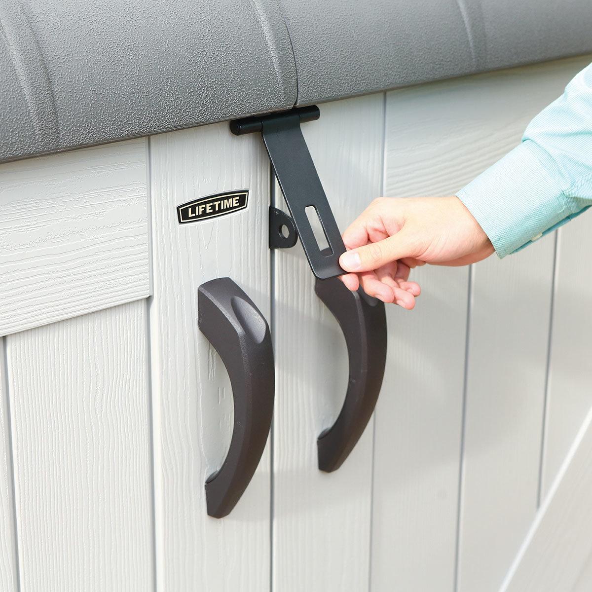 Gerätebox-Mülltonnenbox, 132x191x108 cm, grau | #11