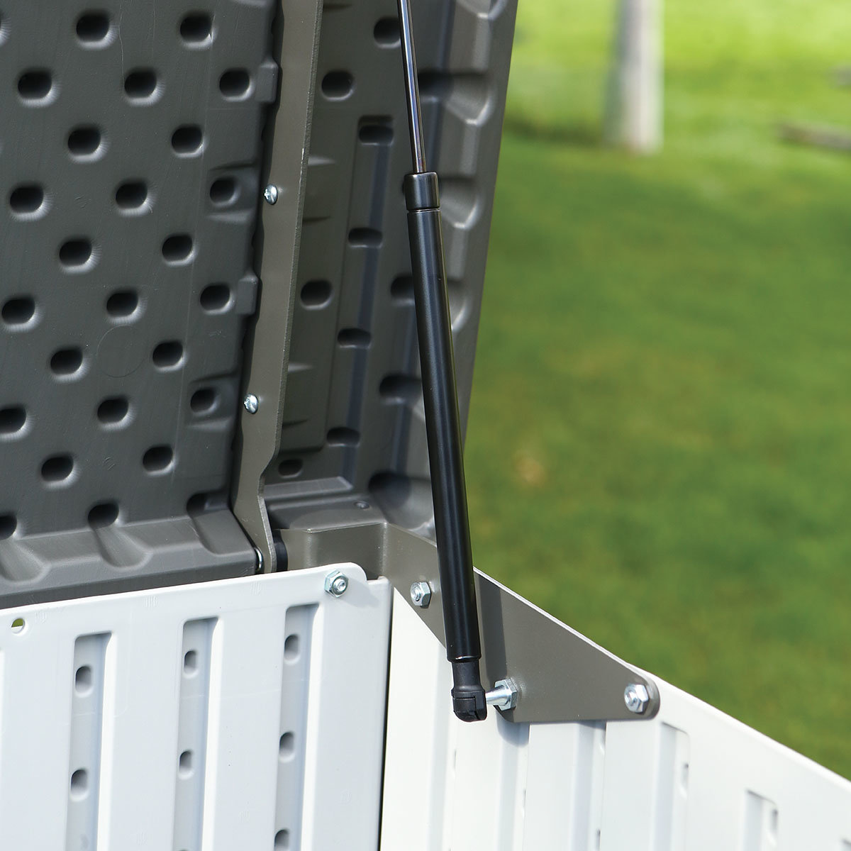 Gerätebox-Mülltonnenbox, 132x191x108 cm, grau | #12