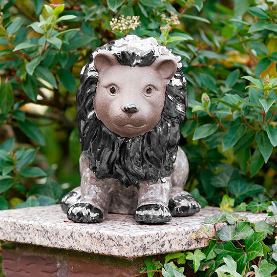 Gartenfigur Terracotta-Löwe Leo   #2