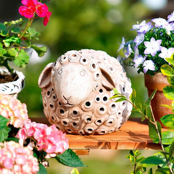 Terracotta leuchtschaf lumi von g rtner p tschke for Gartendeko neuheiten