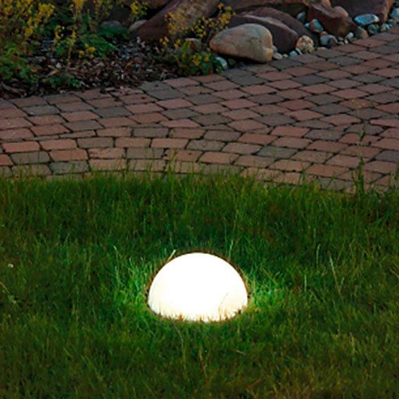 solar led halbkugel moon durchmesser 30 cm von g rtner p tschke. Black Bedroom Furniture Sets. Home Design Ideas