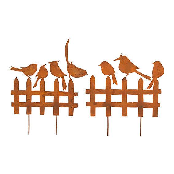Beetzäunchen/Beetstecker Vogelgezwitscher, 2er-Set | #2