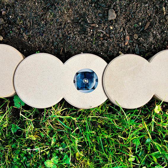 Bio-Rasenkantenstein mit Solar-LED-Licht   #2