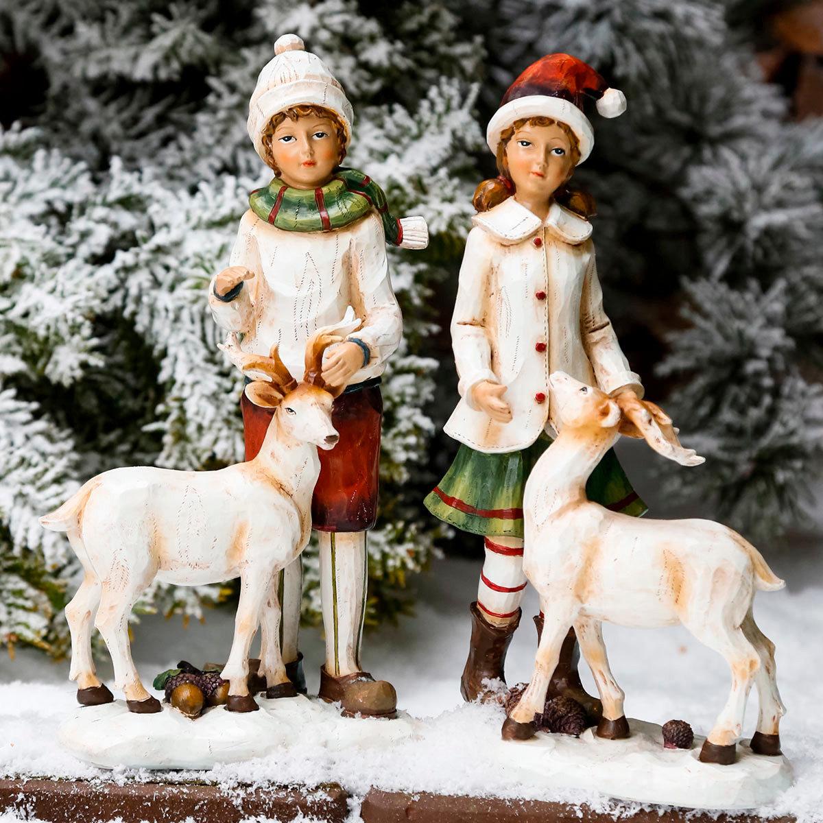 Winterkind Jan mit Rentier | #2