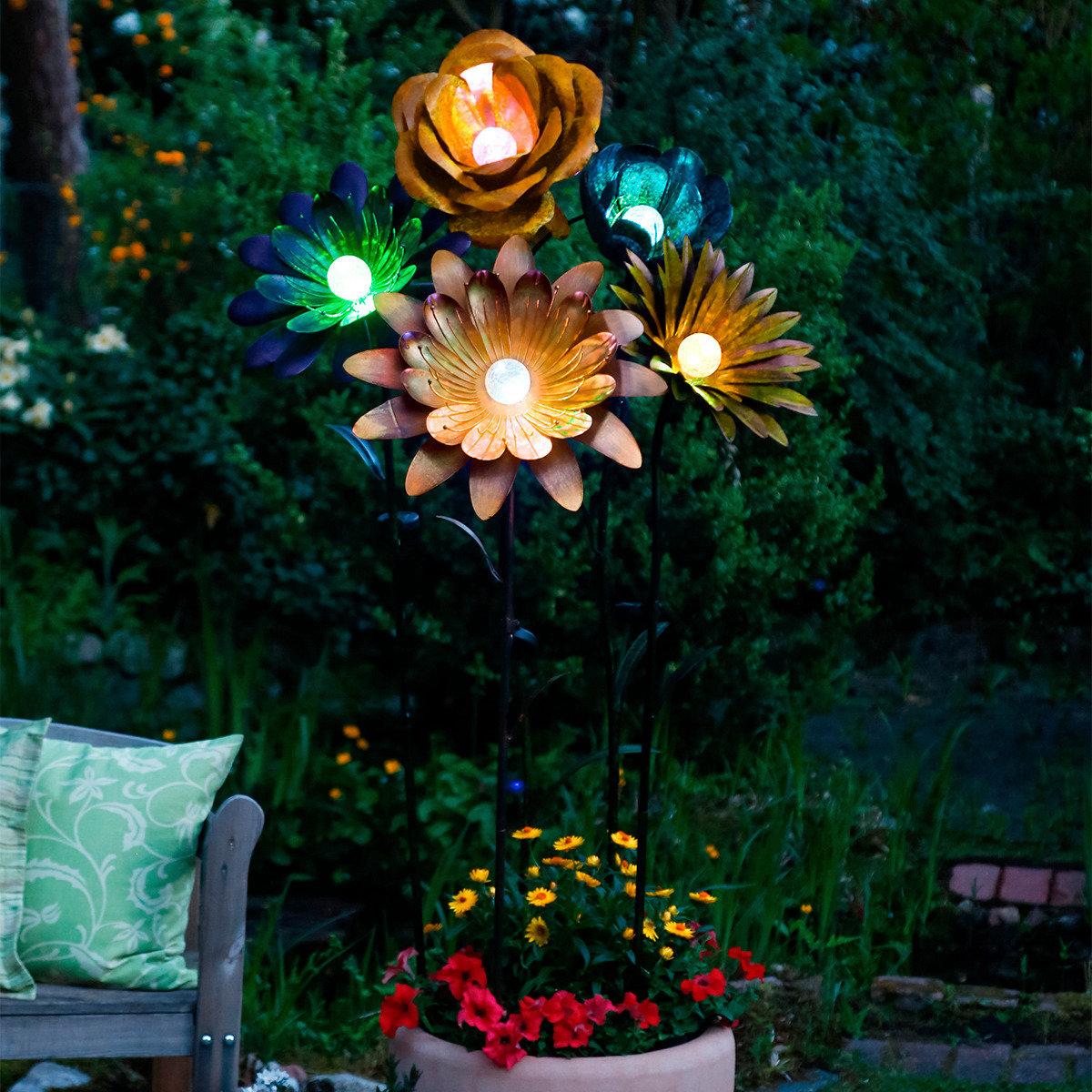 Solarblume XXL Coral Flower türkis | #2