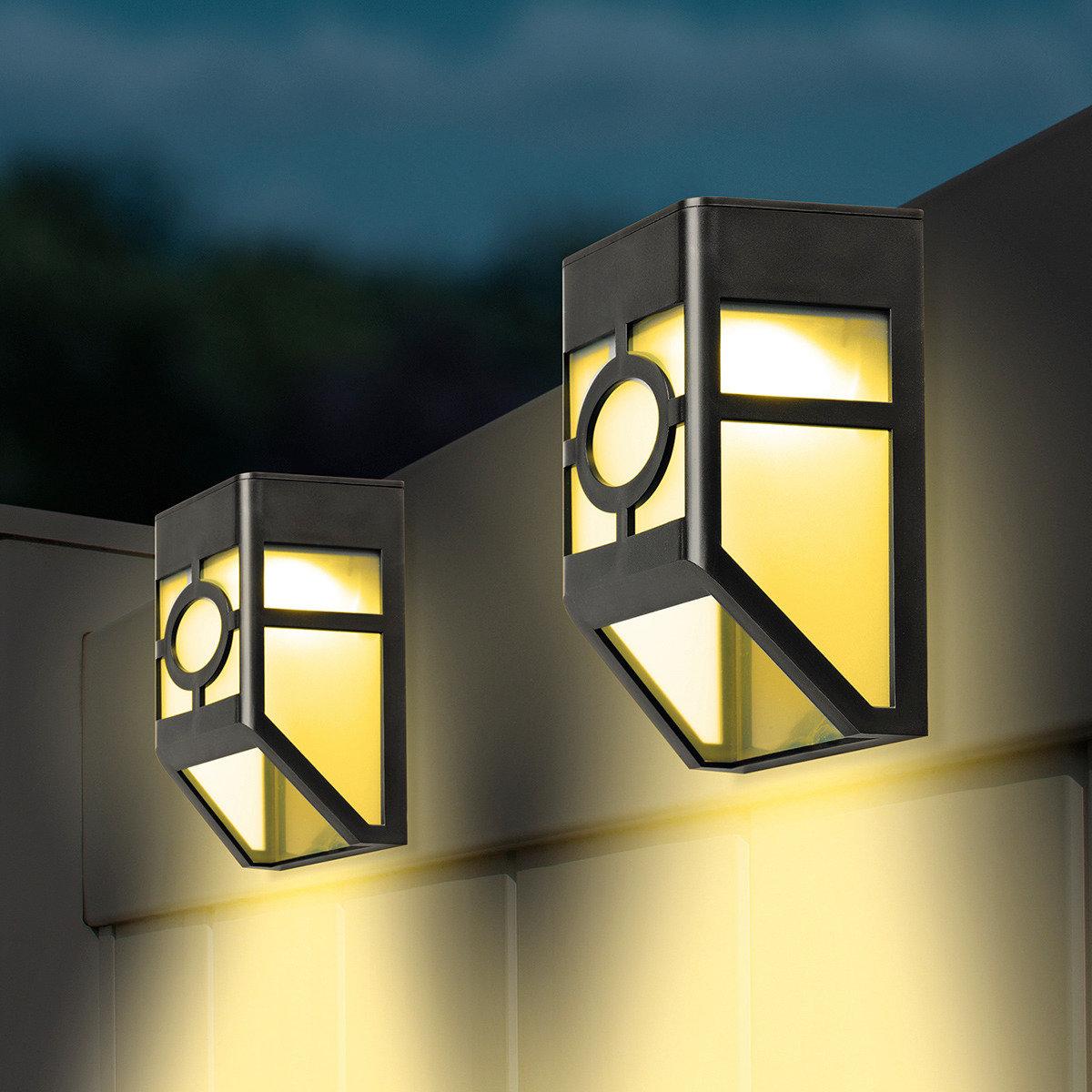 Solar zaunlichter 2er set von g rtner p tschke for Gartendeko neuheiten