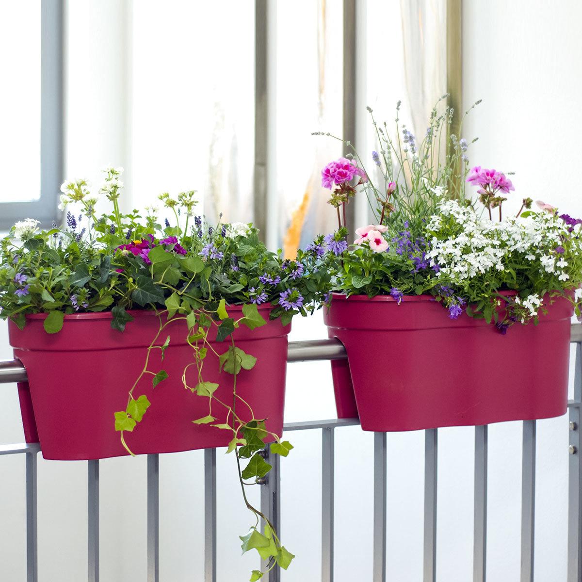 Geländertopf Flowerclip, 57,5 x 27,7 x 27 cm, rosa | #2