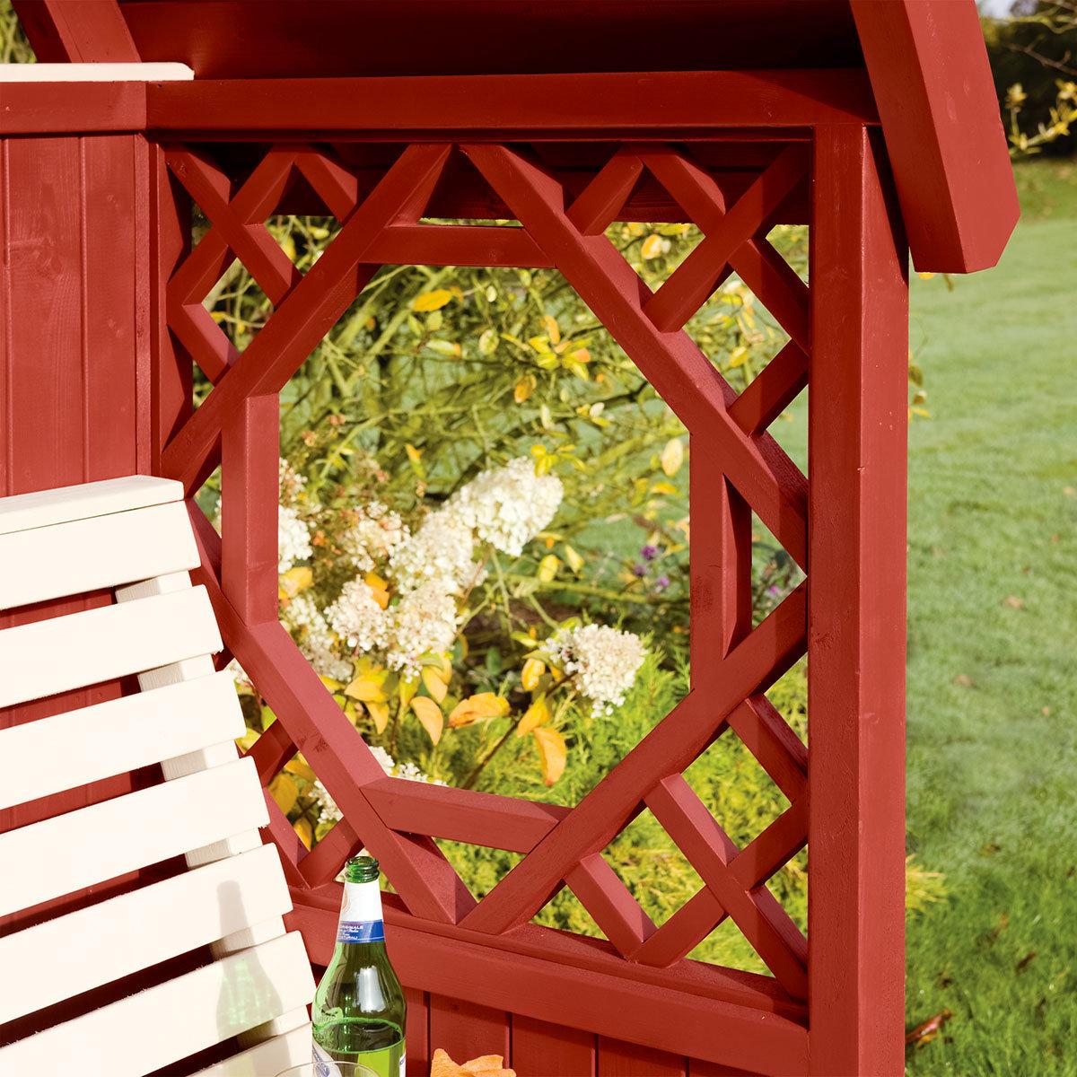 Gartenlaube Traumgarten, rotbraun | #2