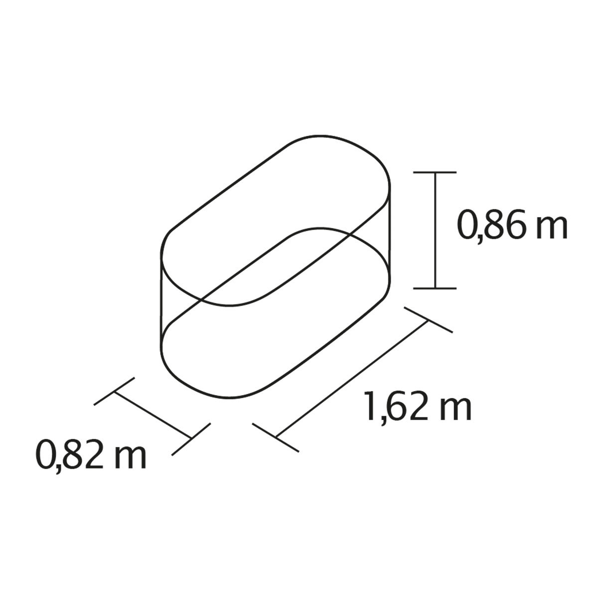 Vitavia Hochbeet, aluminium | #2