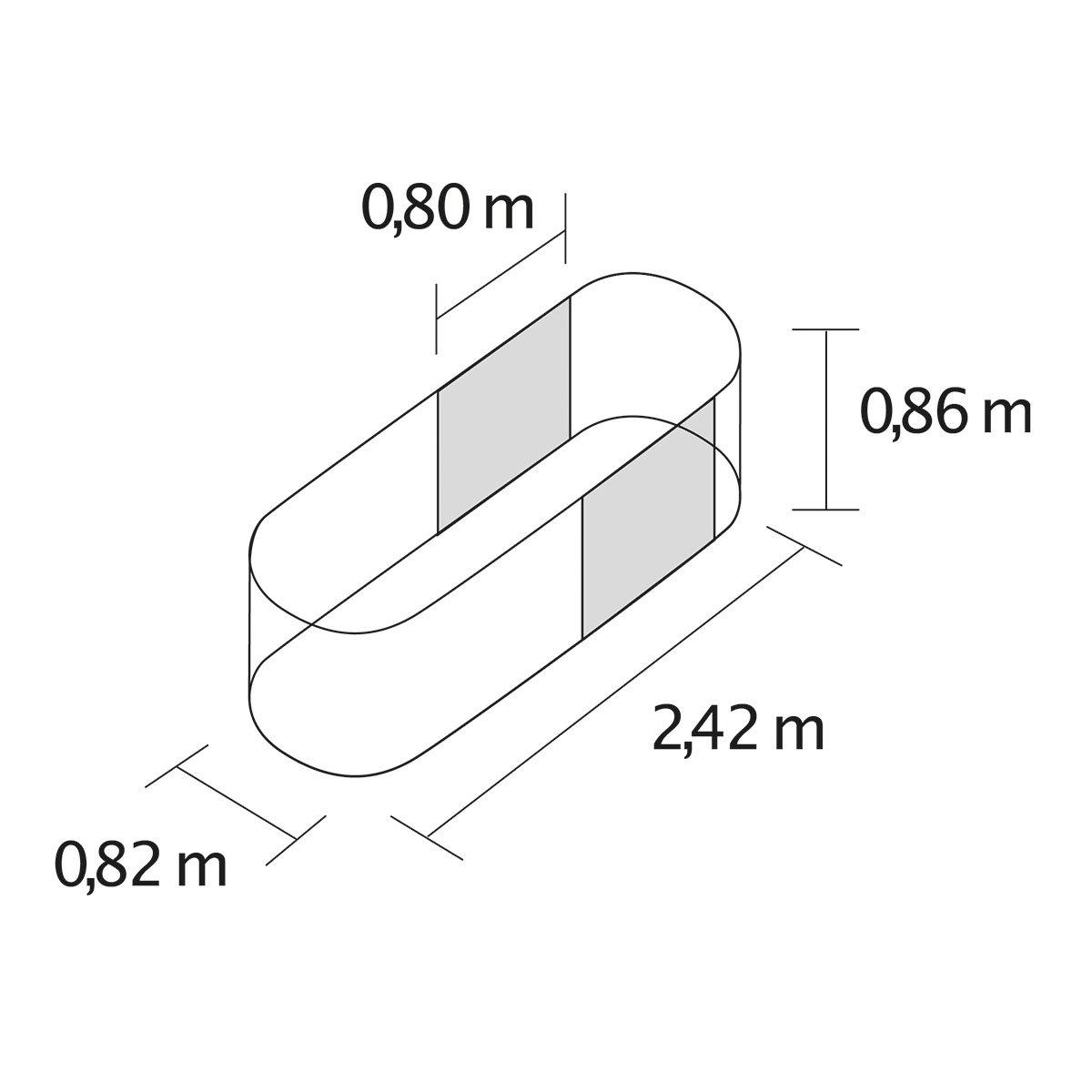 Vitavia Hochbeet Erweiterung, grau | #2