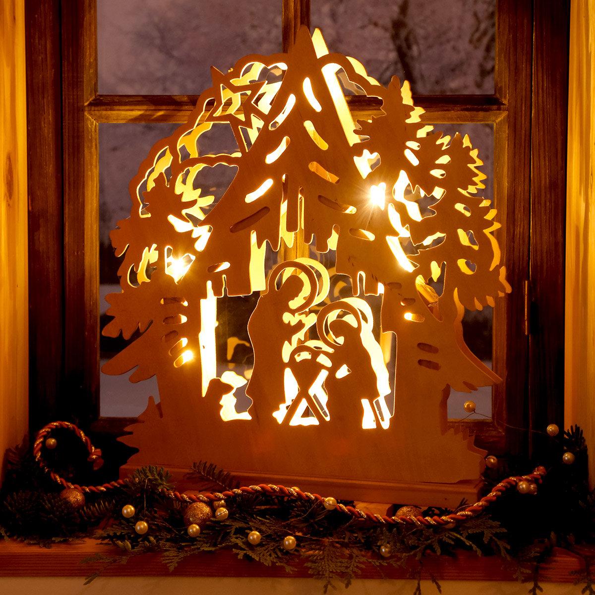 LED-Fensterleuchter Hütten-Weihnacht | #2