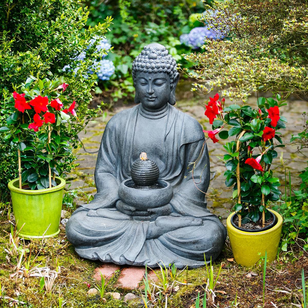 Buddha-Brunnen Prajna mit LED-Beleuchtung | #2