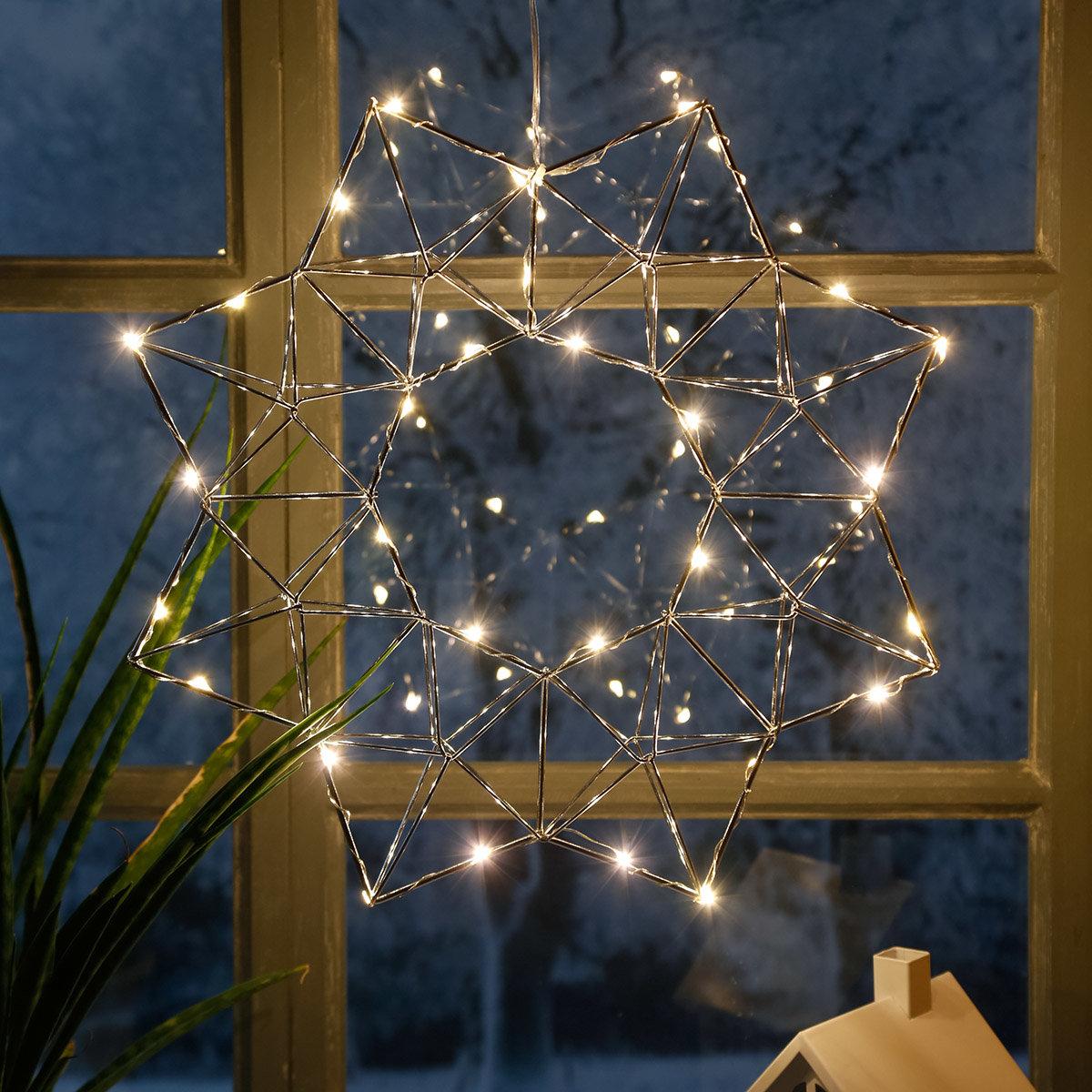 LED-Leuchtstern Modern Christmas, 30 LEDs | #2