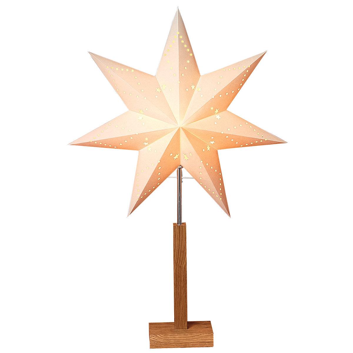 Standleuchte Winter Starlight, 70x43x15 cm, Holz und Papier, beige | #2