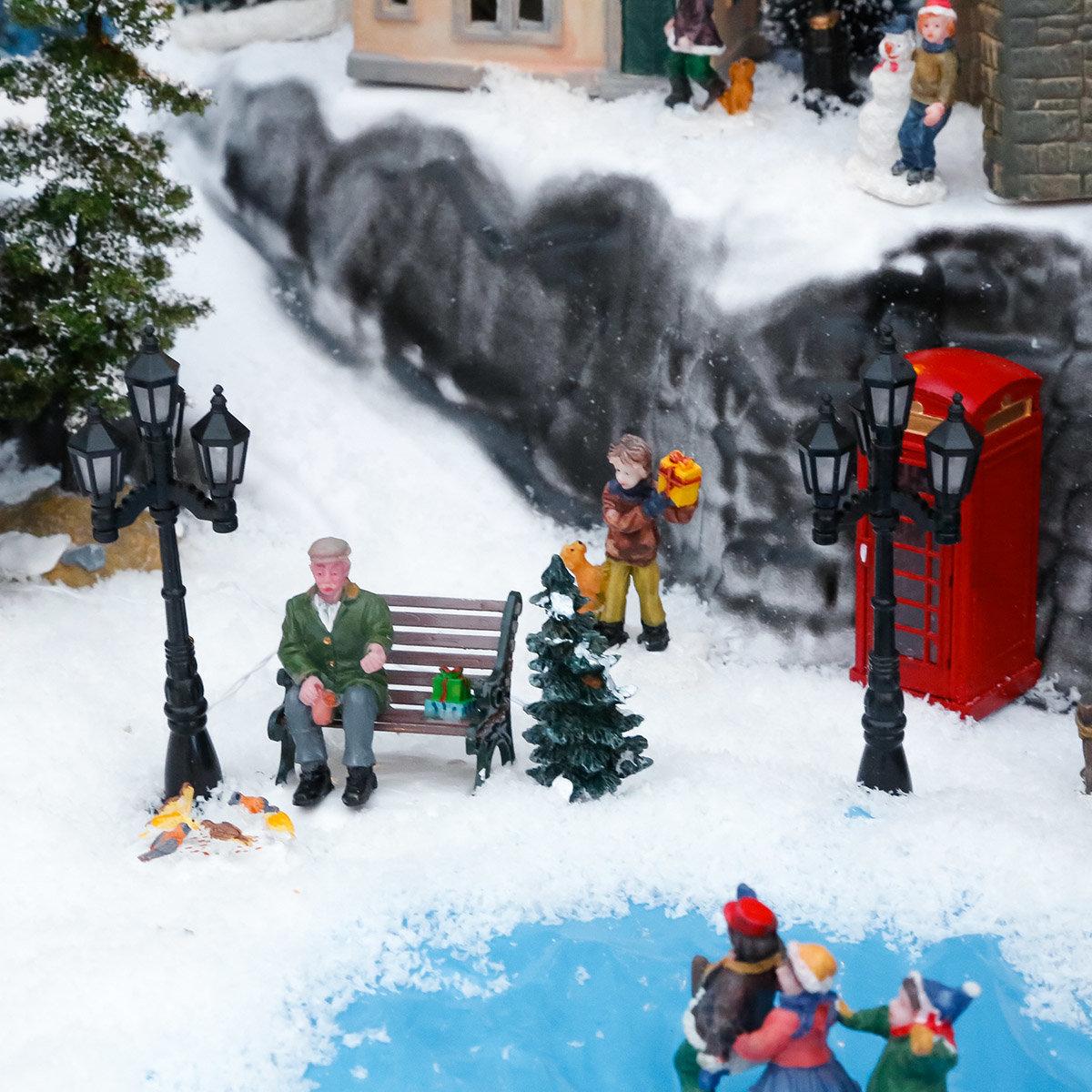 Miniatur-Weihnachtsdorf-LED-Straßenlaternen Konstanz, 2er-Set | #2