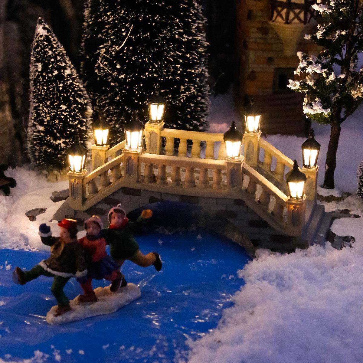 Miniatur-Weihnachtsdorf-LED-Steinbrücke | #2