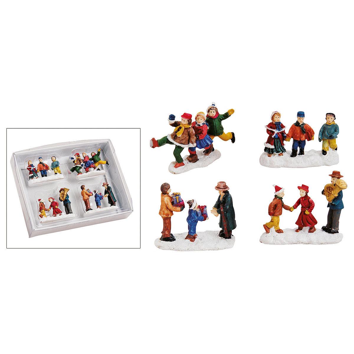 Miniatur-Winterfiguren Weihnachtsfreude, 4er-Set   #2