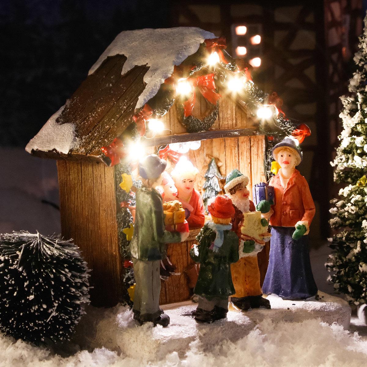 Miniatur-LED-Markt-Stand Adventsschmuck | #2