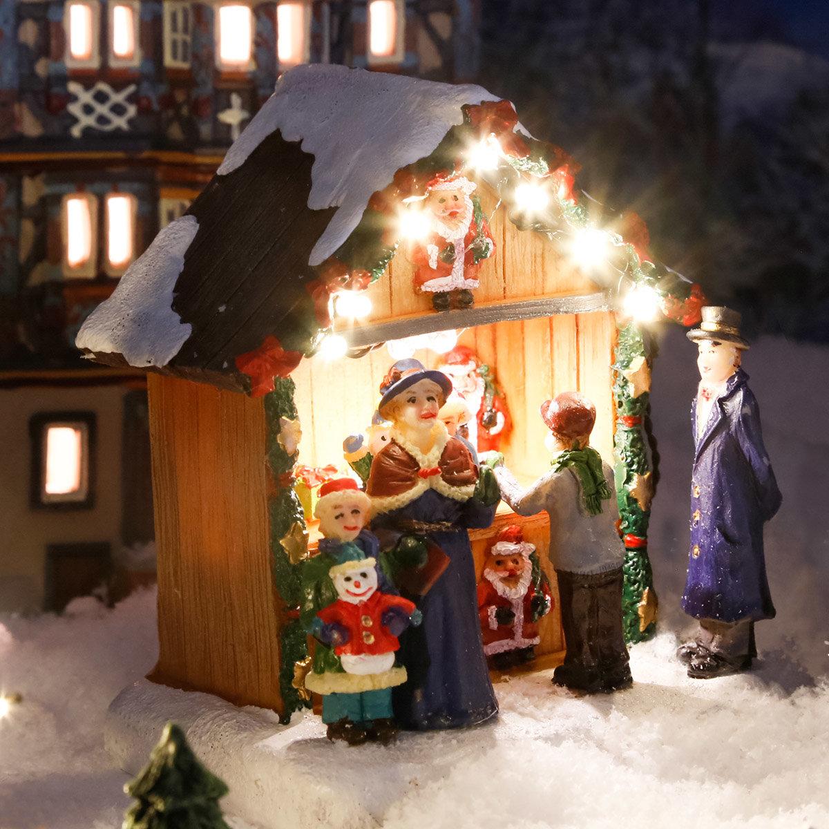 Miniatur-LED-Markt-Stand Weihnachtsdeko | #2