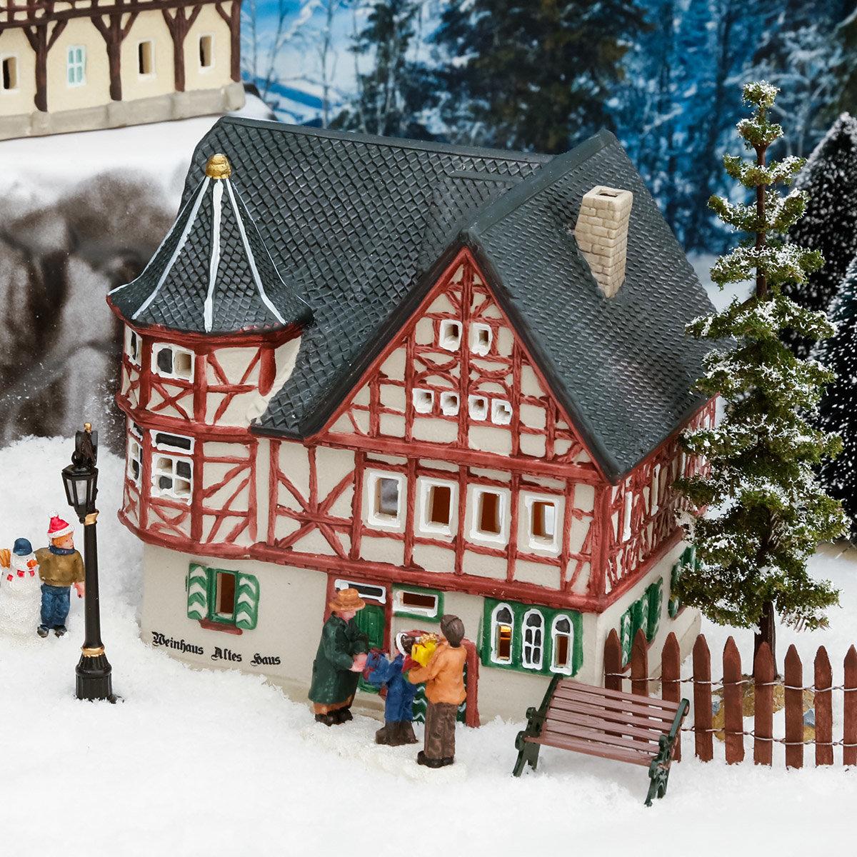 Miniatur-Weihnachtsdorf-Lichthaus Altes Weinhaus in Bacharach | #2