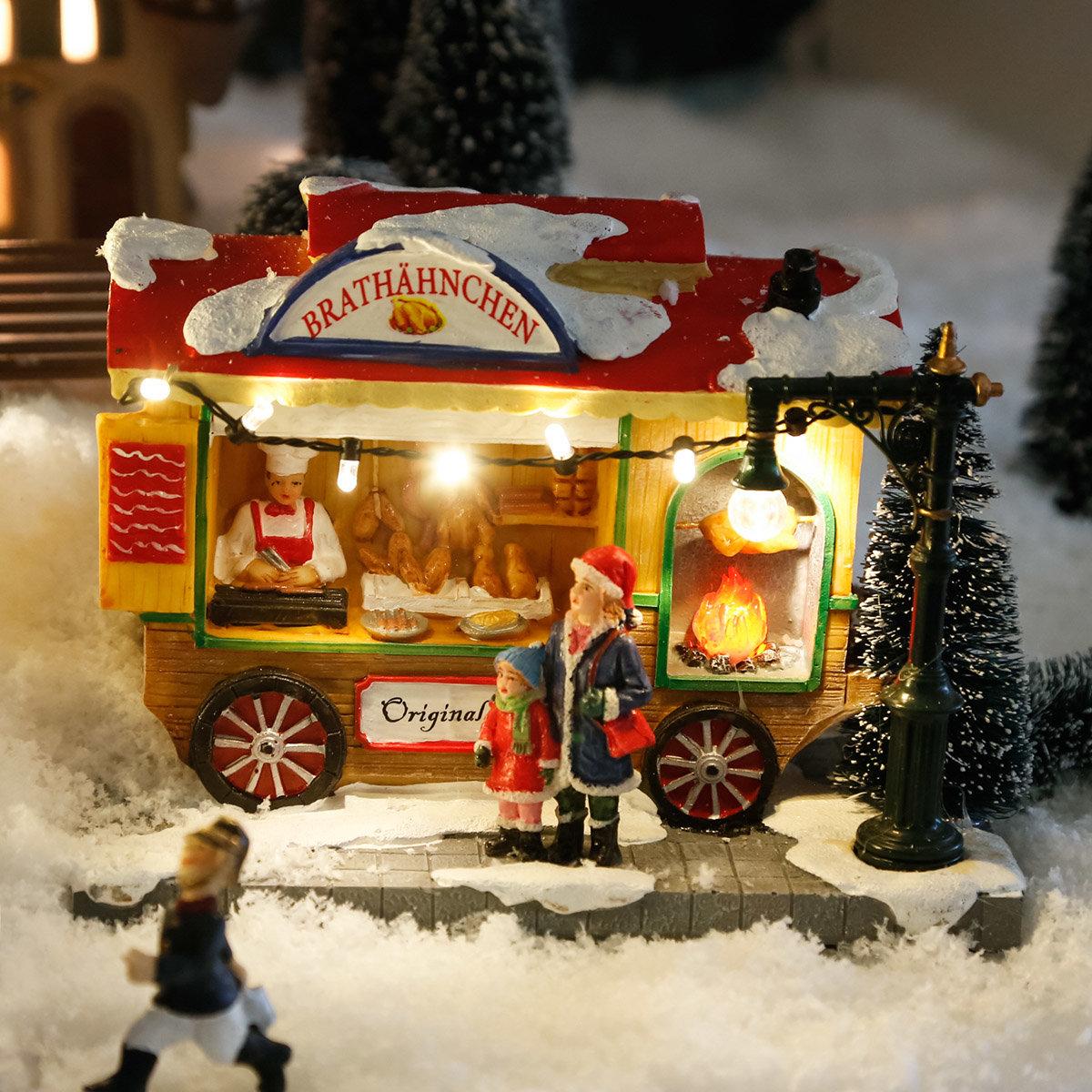 Miniatur-Weihnachtsdorf LED-Brathähnchen-Wagen | #2