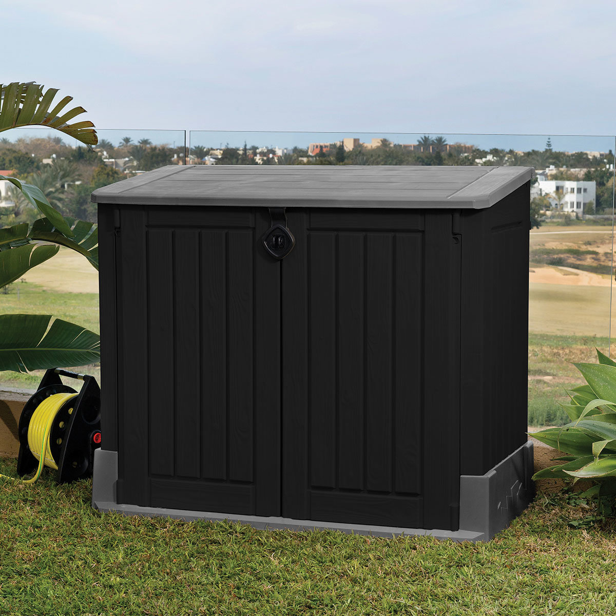 Store It Out Midi Aufbewahrungsbox Woodland 845 L, schwarz-grau | #2