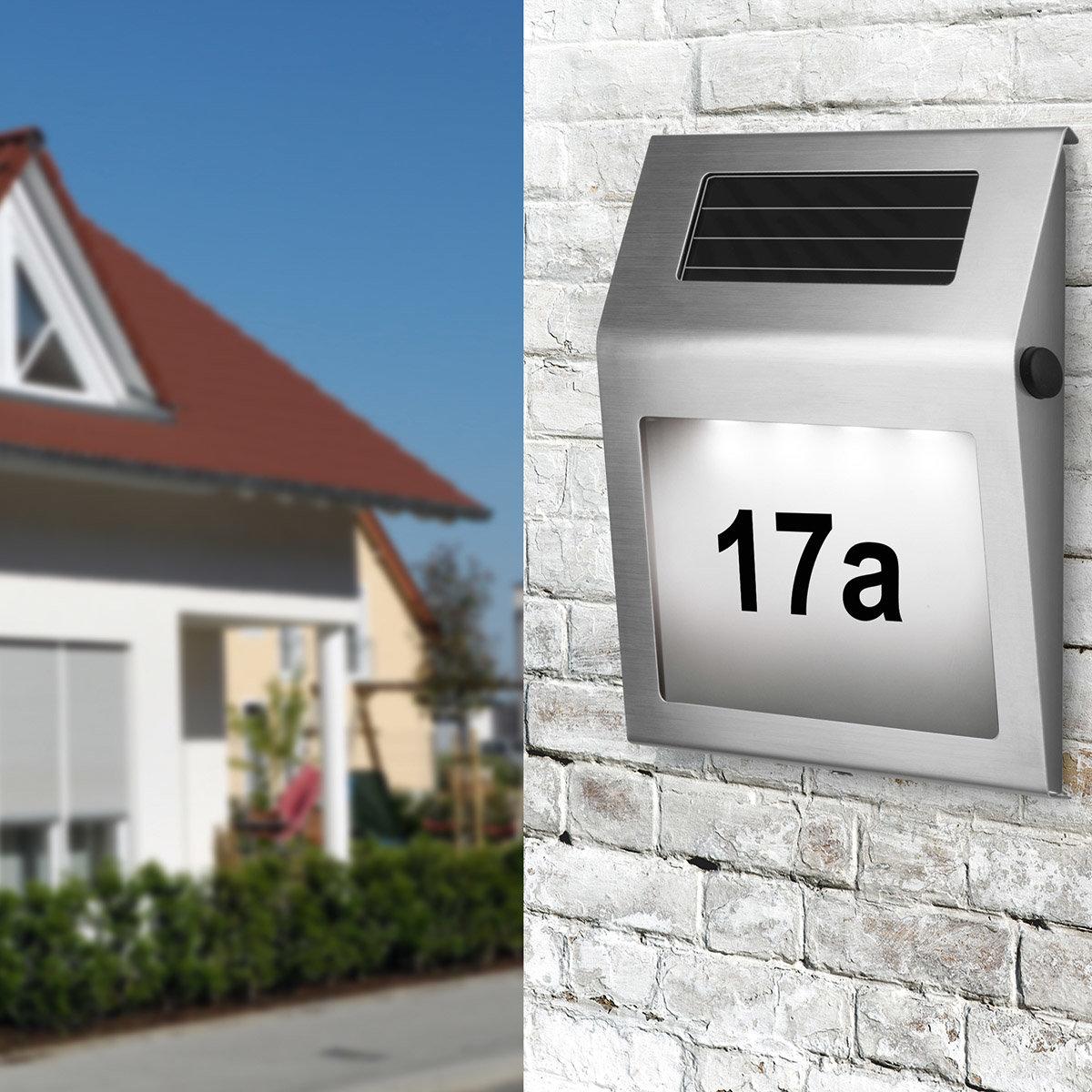 EASYmaxx Solar-Leuchte Hausnummer | #2