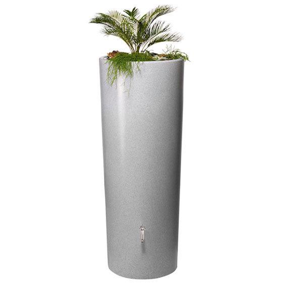 Regenwassertank 2 in 1, Natursteinoptik, silber | #2