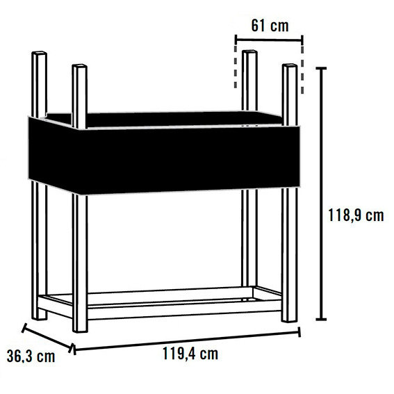 Shelter Logic Kaminholzregal hohe Traglast 1000 kg | #2