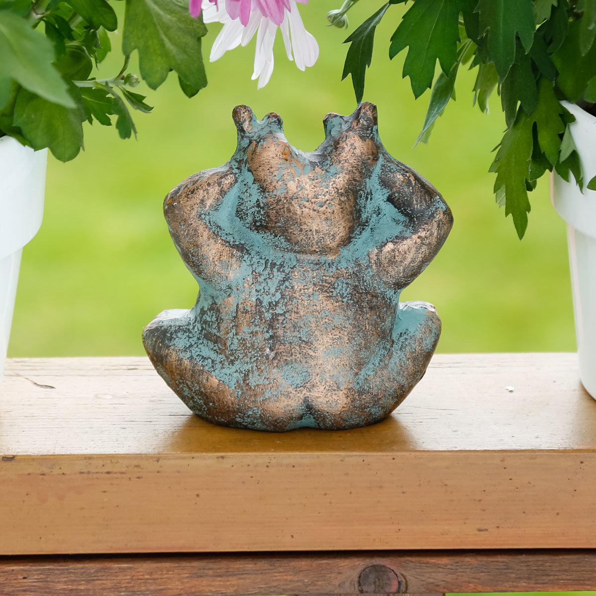 deko figur frosch anton online kaufen bei g rtner p tschke. Black Bedroom Furniture Sets. Home Design Ideas
