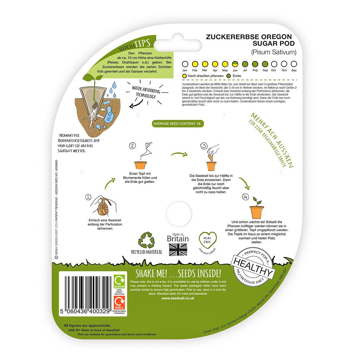 Seedcell Zuckererbse, 8 Seedcells   #2