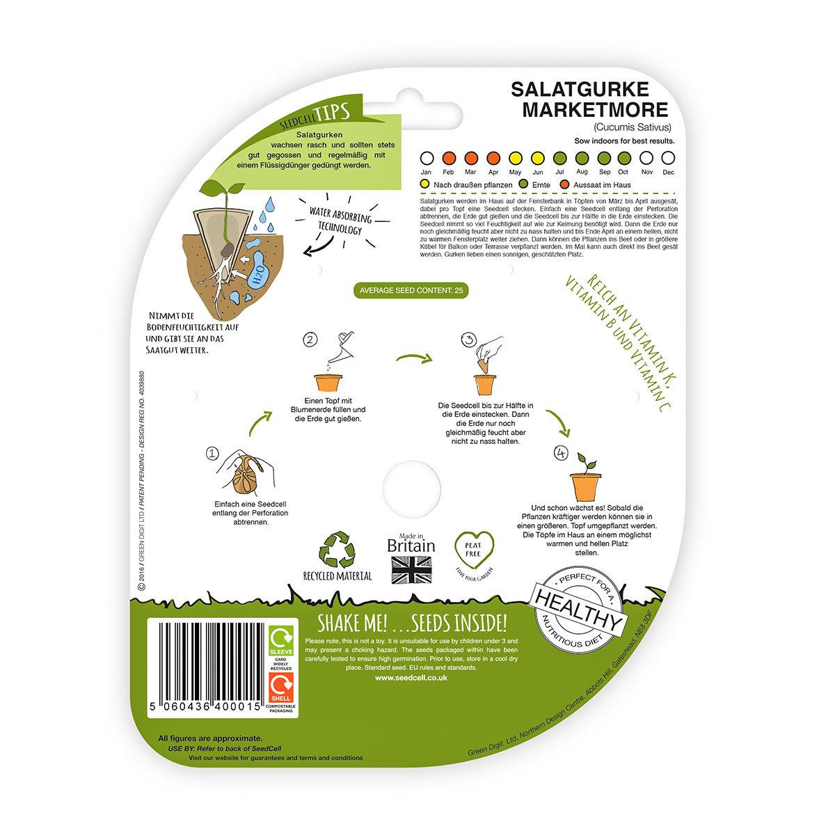 Seedcell Freiland-Salatgurke, 8 Seedcells | #2
