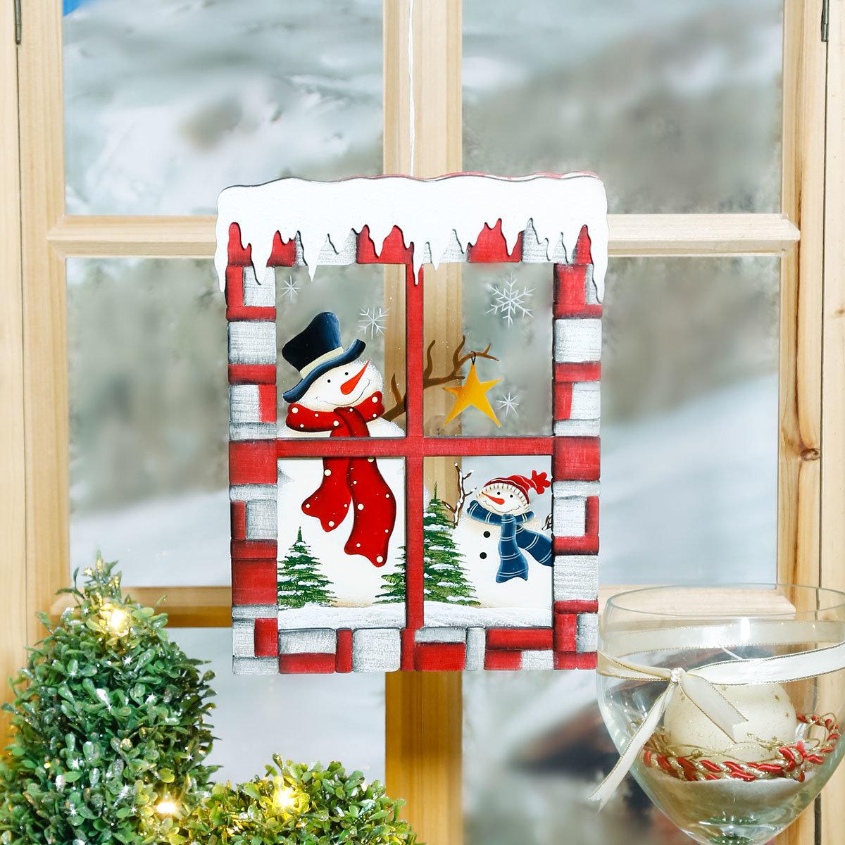 Weihnachts-Fensterbild Schneegestöber | #2