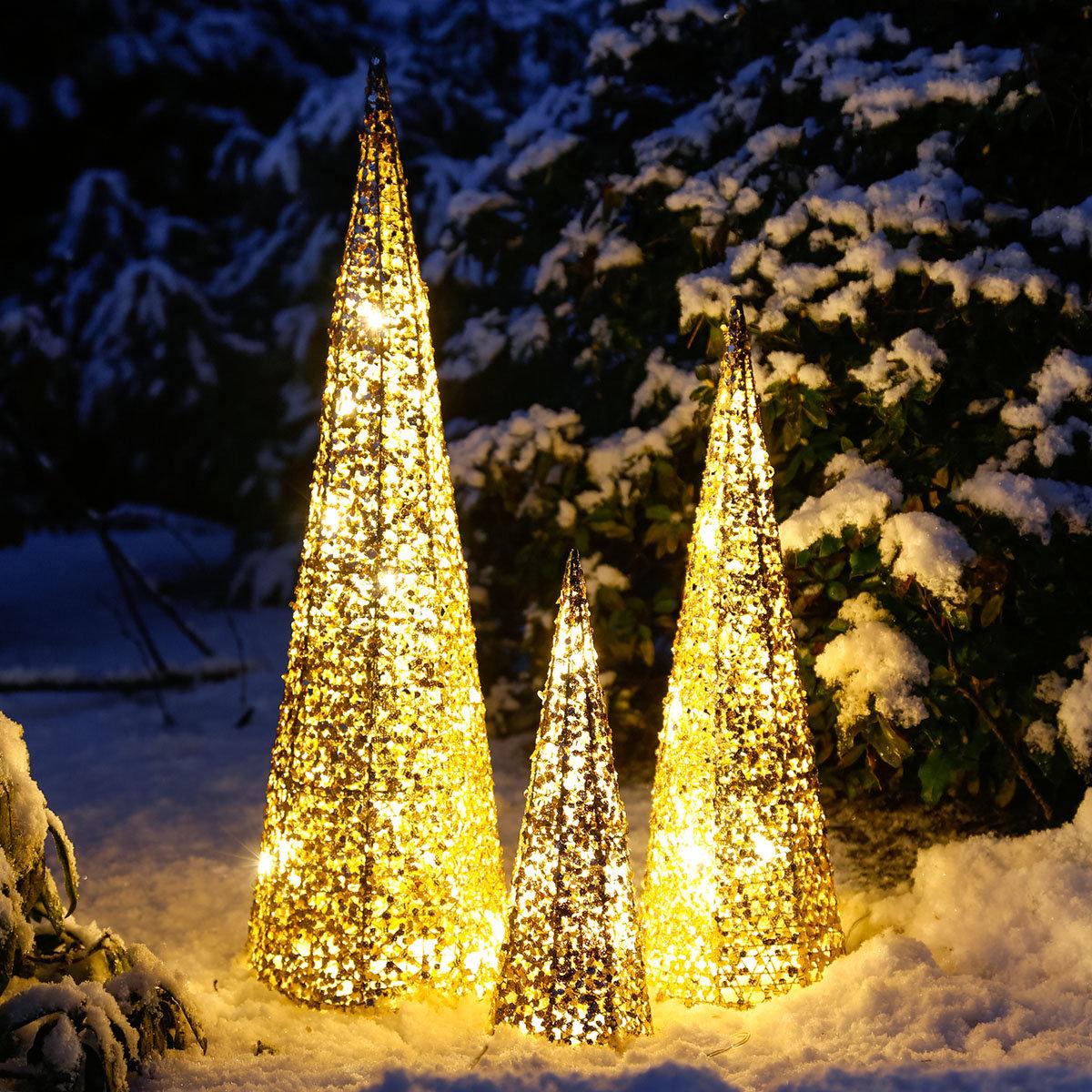 LED-Leuchtkegel Lichterzauber, 3er-Set | #2