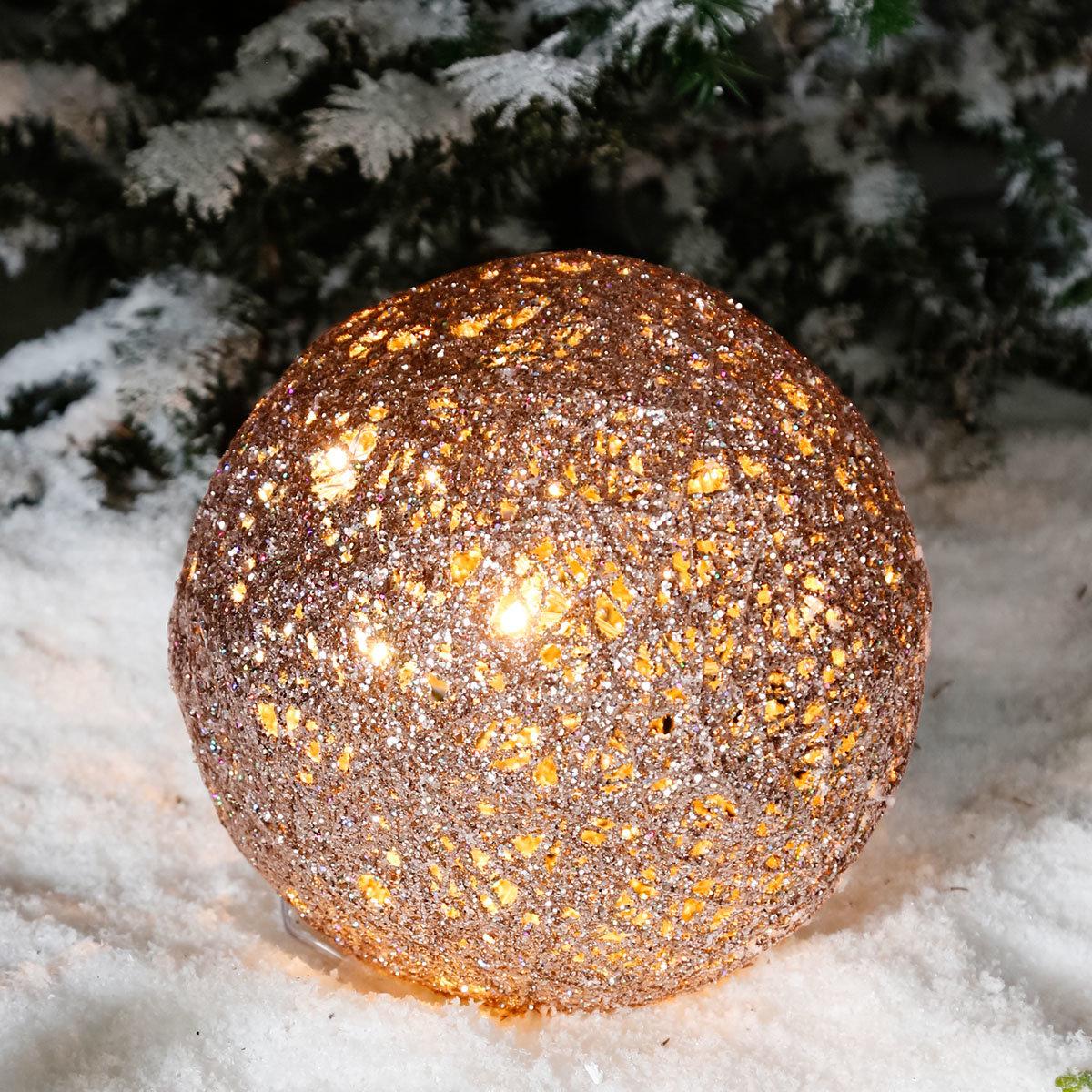 LED-Glitzerkugel Sternenstaub, mittel | #2