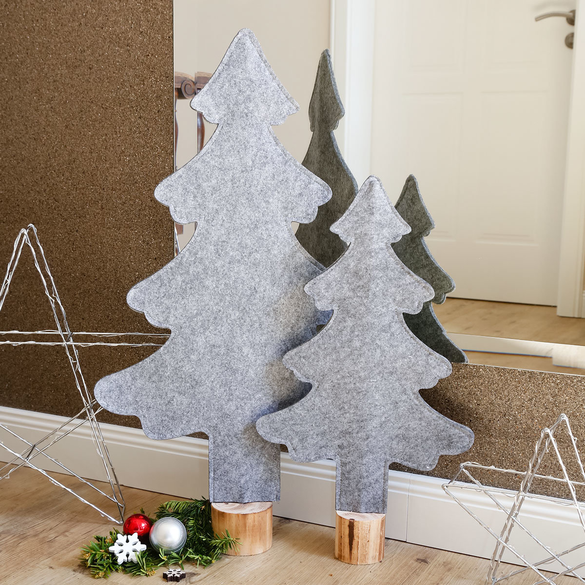 filz weihnachtsbaum winter time gro online kaufen bei g rtner p tschke. Black Bedroom Furniture Sets. Home Design Ideas