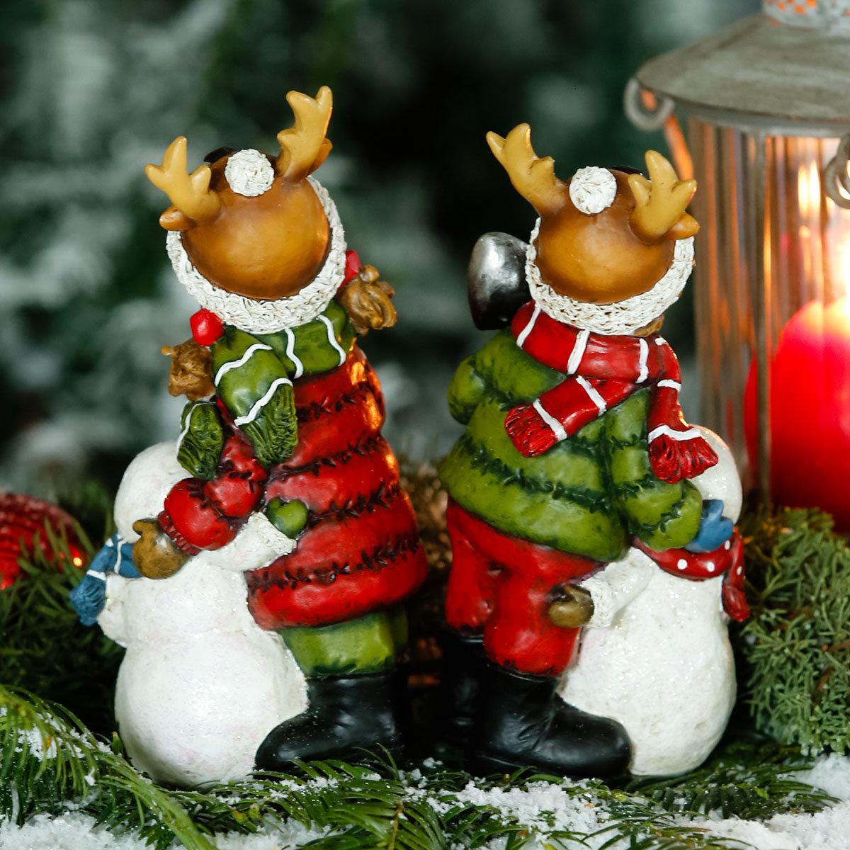 Winterkinder Tom & Lisl mit Schneemännern | #2