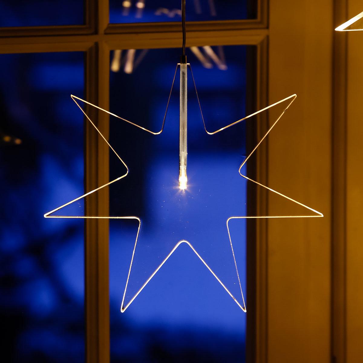 LED-Fensterstern Kristall Weihnacht | #2