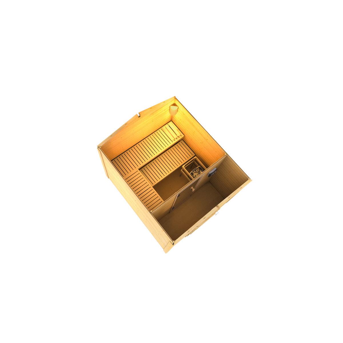 saunahaus jarno mit vorraum von g rtner p tschke. Black Bedroom Furniture Sets. Home Design Ideas