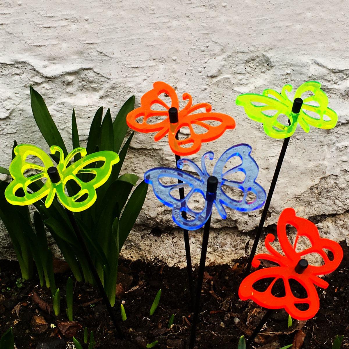 Acryl Sonnenfänger Happy Butterflies, 5er-Set | #2