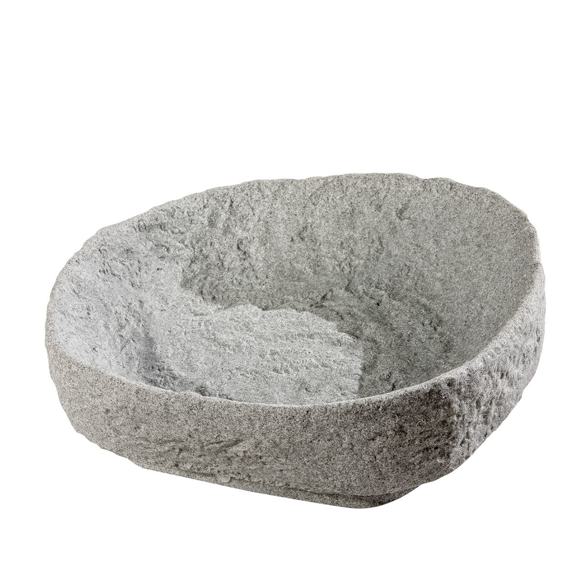 Hinkelstein mit Pflanzschale, Granit-Optik | #2