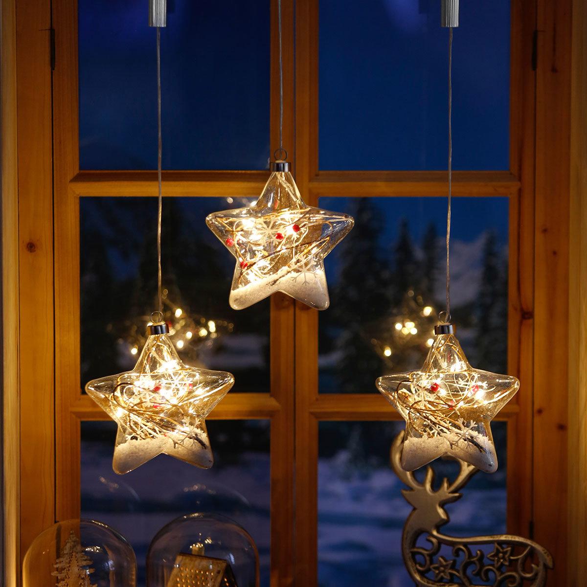 Led fensterdeko schneestern online kaufen bei g rtner p tschke - Led fensterdeko weihnachten ...
