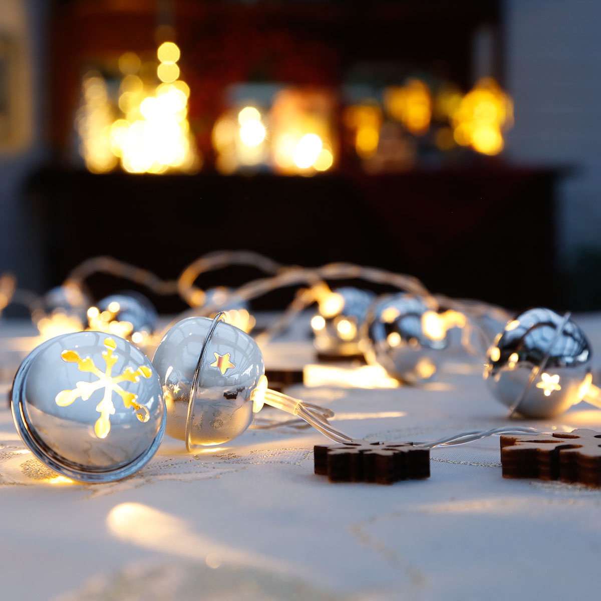 LED-Lichterkette Silberglöckchen | #2