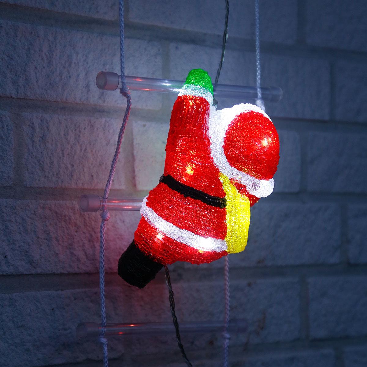 LED-Weihnachtsmann-Trio auf Leiter | #2