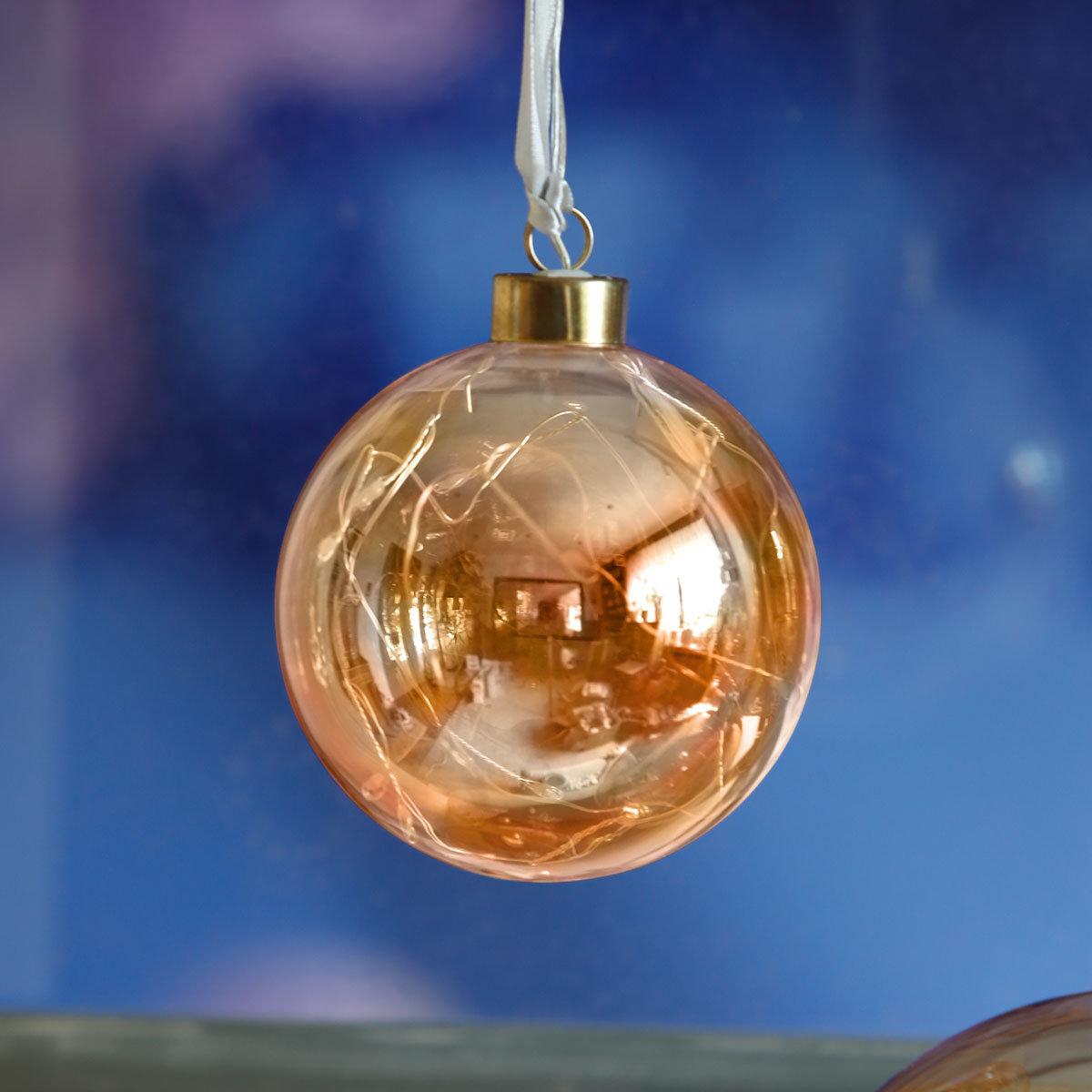 LED-Glaskugel Golden Glow, klein | #2