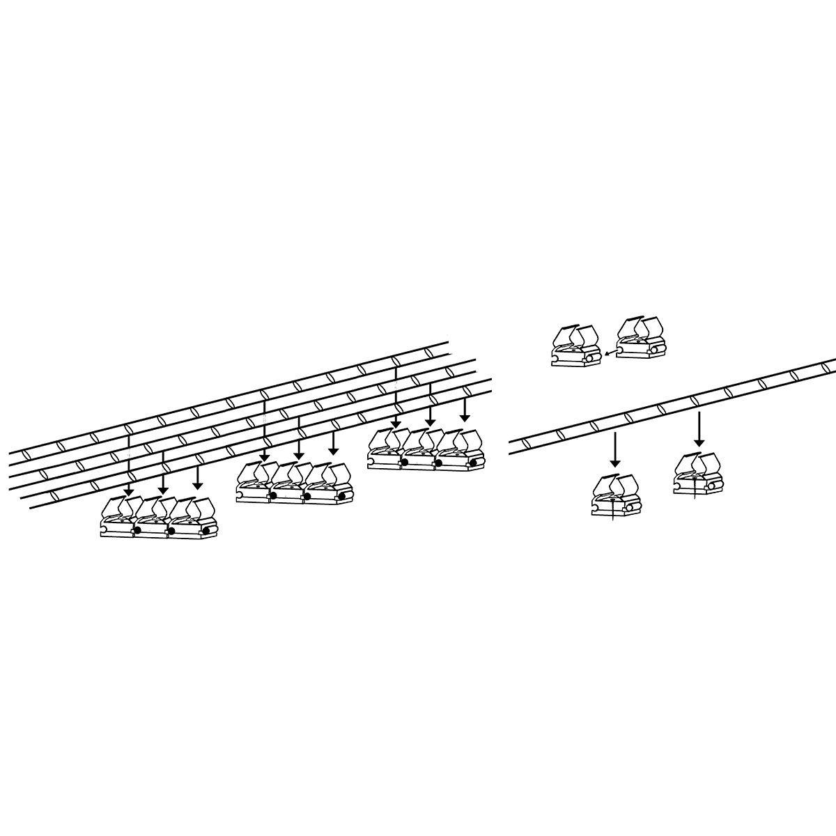 Befestigungsklammer für Lichtschläuche, 10er-Set | #2