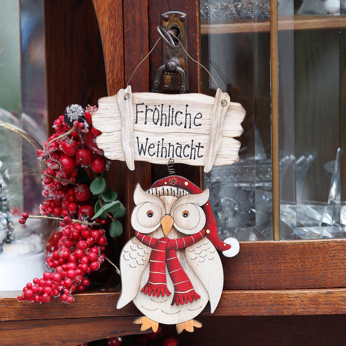 Türschild Weihnachtseule | #2