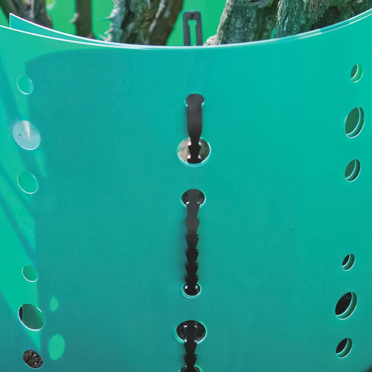 Rosen-Manschette, 2er-Set, 90x16 cm, Kunststoff, grün | #2