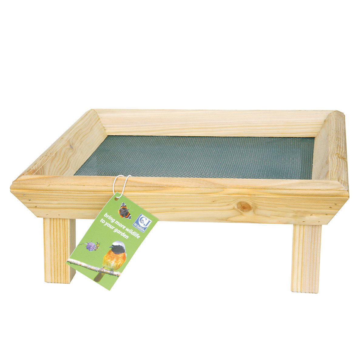 Futtertisch zur Bodenfütterung, 32x32x12 cm, Holz, natur   #2