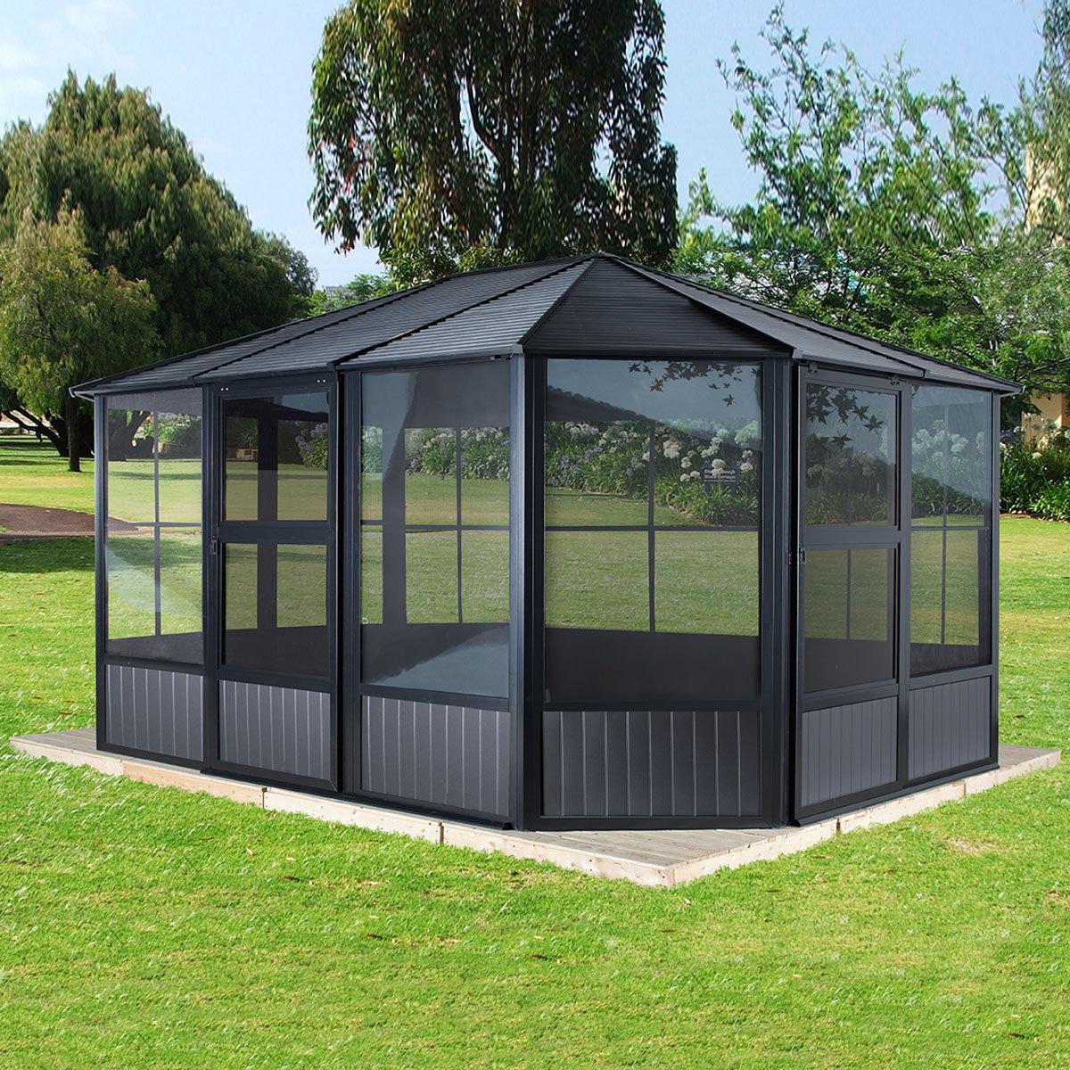 pavillon charleston 12x12 online kaufen bei g rtner p tschke. Black Bedroom Furniture Sets. Home Design Ideas